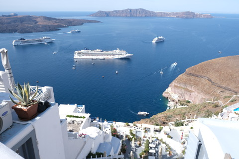 Caldera views at Thira